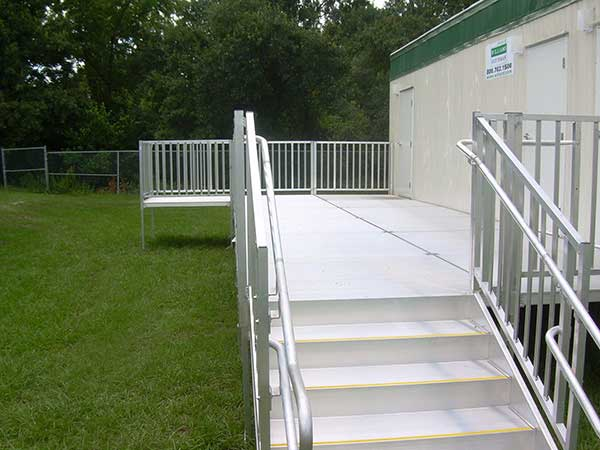 ADA Modular Wheelchair Ramp for Handicap access.