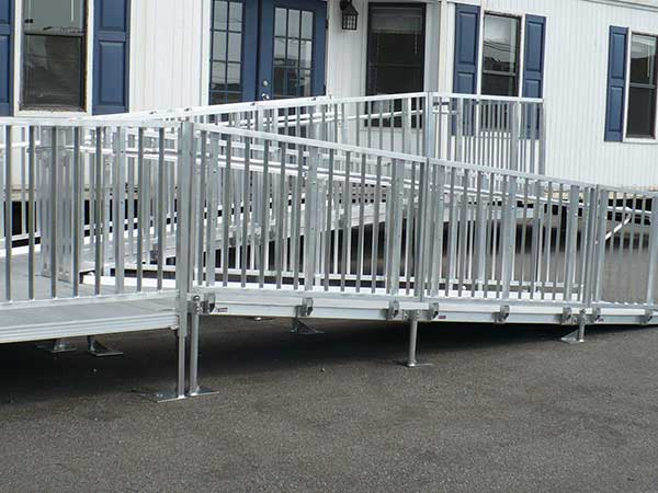 Wheelchair ramps handicap ramps slope ada wheelchair ramp for Handicap accessible mobile homes for sale