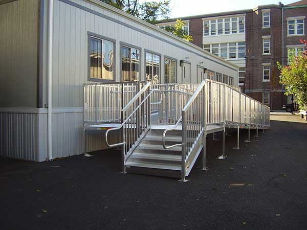 Titan Modular Wheelchair Ramps with ADA Compliant Stair