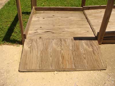 Wood Wheelchair Ramps have bumpy transitions areas